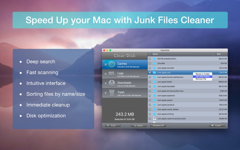 Clear Disk Space: ClearDisk Screenshots