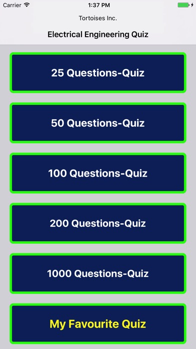 Screenshot of Ingegneria Elettrica Quiz Free1