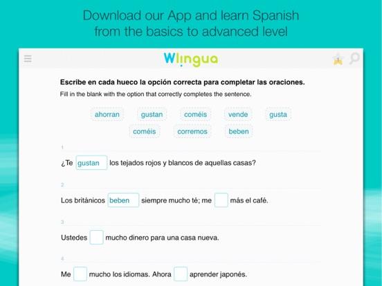 Learn Spanish with Wlingua iPad