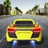 高速車のレースの高速道路のトラフィック 3D