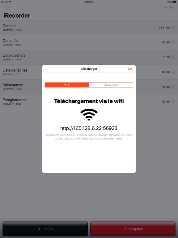 Screenshot #6 pour iRecorder Pro - SimpleTouch
