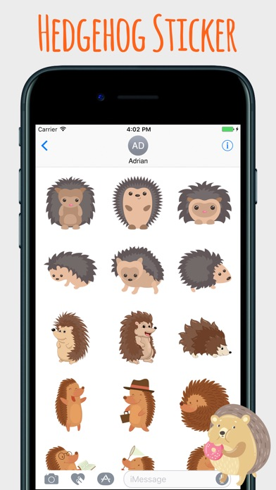 download Spiky Hedgehog Stickers apps 1