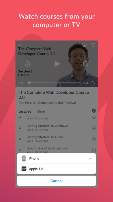 Screenshot 4 for Udemy's iPhone app'