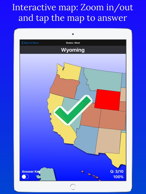 United States Map Quiz On The App Store - Us map q
