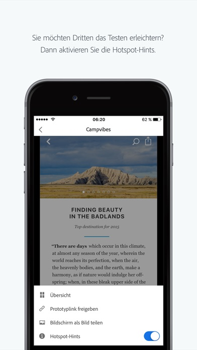 Screenshot von Adobe XD4
