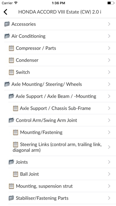 Car Moto parts for Ho... screenshot1