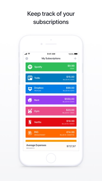 Bobby - Track subscriptions Screenshot