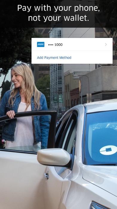 Screenshot of Uber App