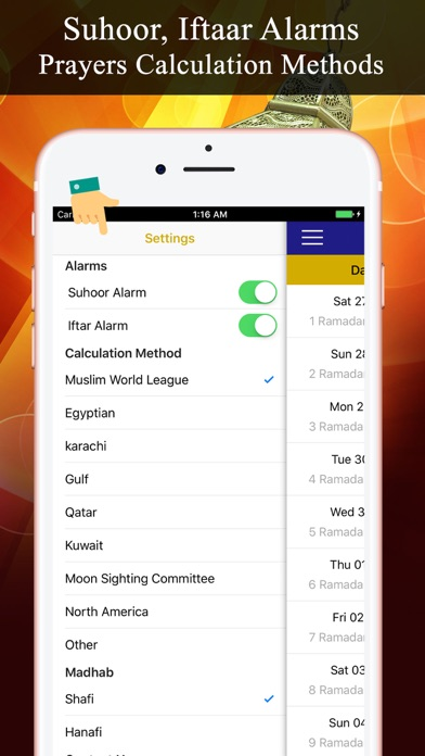 Screenshot of Calendario del Ramadan PRO5