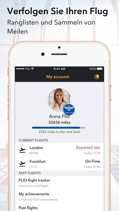 FLIO Flughafen App Screenshot