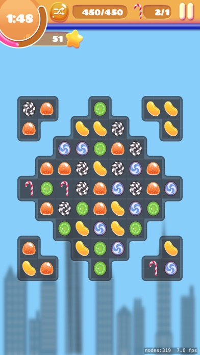 Trio Mio: twisted match 4 game screenshot 2