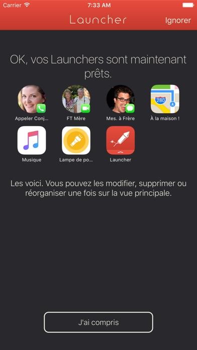 Launcher avec widgetCapture d'écran de 4