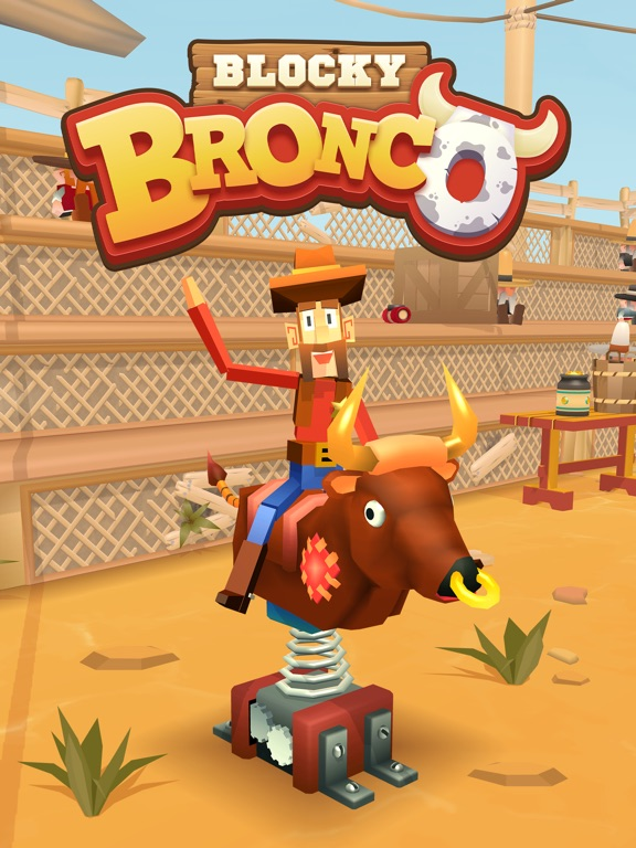 Blocky Bronco iOS Screenshots