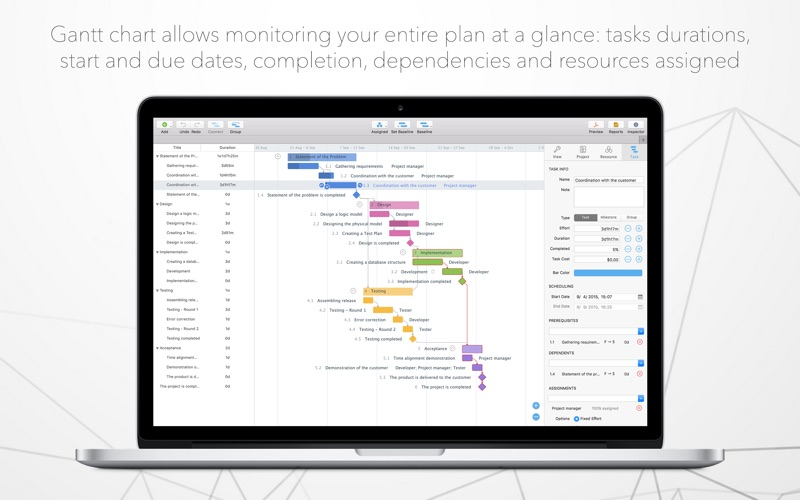 Project office gantt charts by dk consulting tov screenshots mac osx ccuart