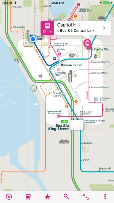 Seattle Rail Map Lite on the App Store