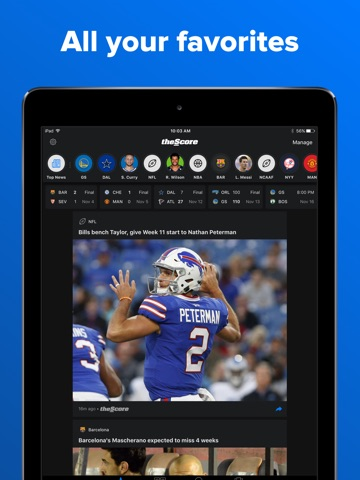 theScore: Sports News & Scores screenshot 1