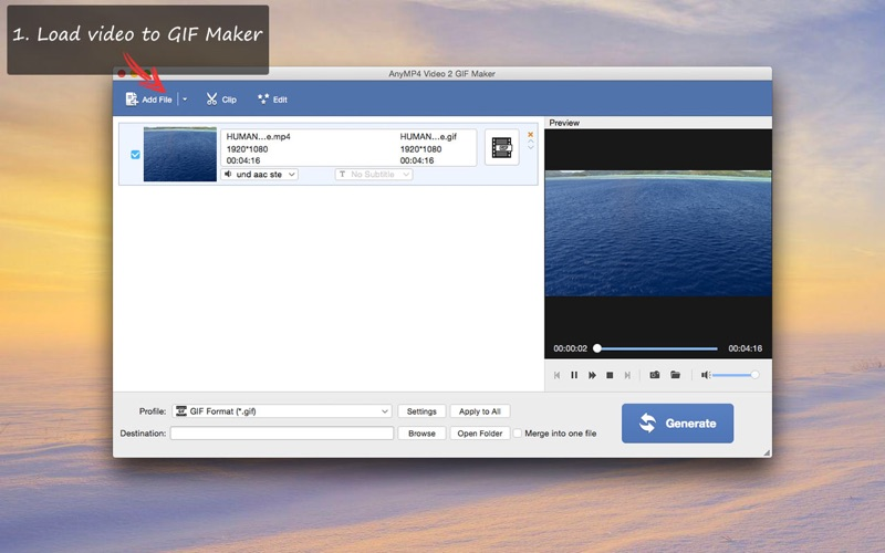 AnyMP4 Video 2 GIF Maker–Best Video GIF Converter Screenshots