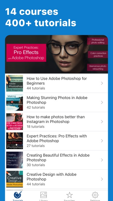 Screenshots of Easy Photoshop Tutorials For Beginners for iPhone