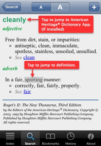 Roget's II: New Thesaurus screenshot 3