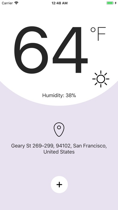Thermometer X & Hygrometer App - Simple and Minimalistic Weather App Image