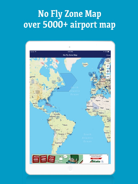 Drone BuddyFly UAV Safe WeatherWindNo Fly Zone On The App Store - Us no fly zones map
