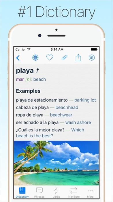 Screenshot #6 for Spanish Dictionary & Translator +