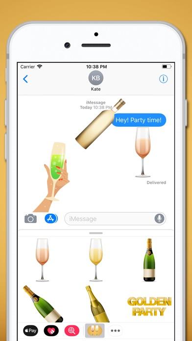 download Champagne Sparkling Sticker apps 1