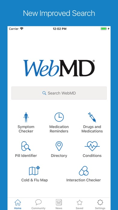 Screenshot 0 for WebMD's iPhone app'