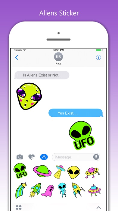Aliens Stickers! screenshot 2