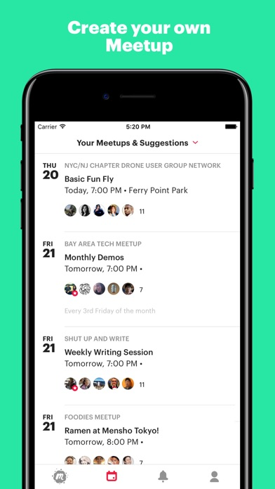 Screenshot 4 for Meetup's iPhone app'