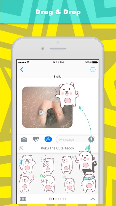 Kuku The Cute Teddy Stickers review screenshots