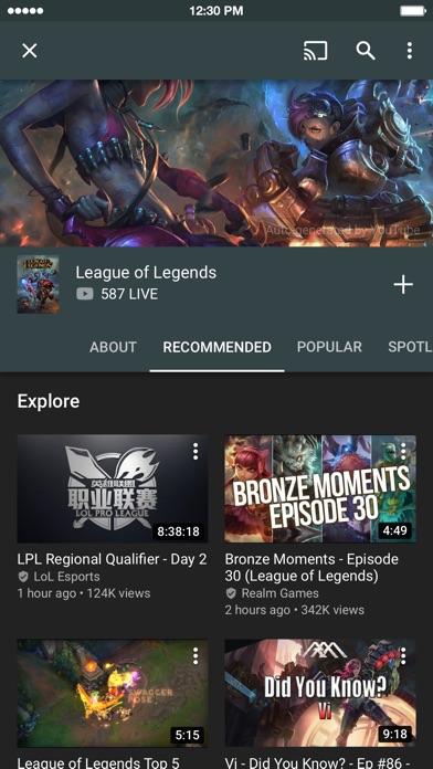 YouTube Gaming Screenshots