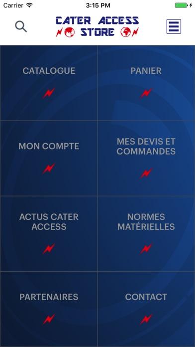 CATER ACCESS StoreCapture d'écran de 1