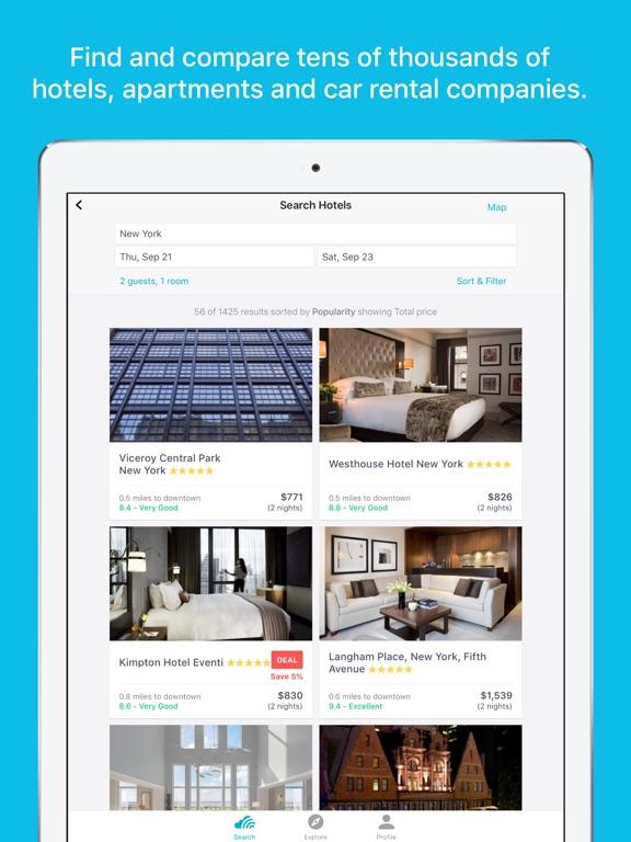 Skyscanner Flights Hotels Cars iPad