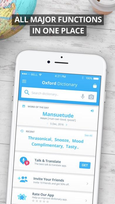 Oxford English Dictionary Screenshots