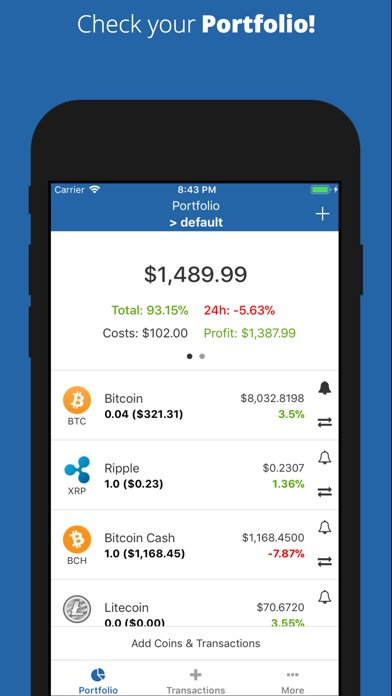 portfolio tracker app