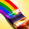 Paint Windows : Paintbrush rainbow