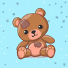 download Teddy Bear with Love Sticker