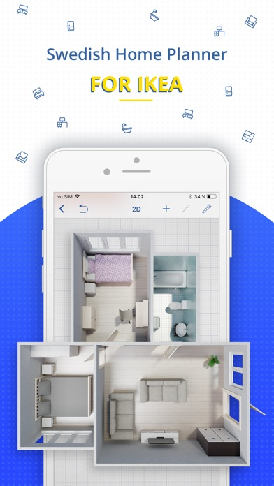 Schlafzimmer Ideen Wandgestaltung Drei Farben. Swedish Home Planner For  Ikea On The App Store