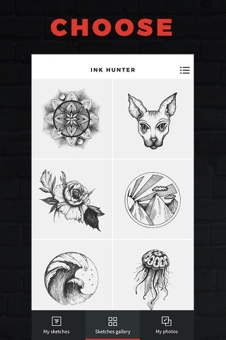 INKHUNTER Try Tattoo Designs screenshot 1