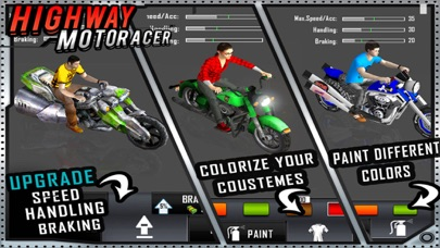 Screenshot of Highway Bike Racer : 3D Racing4