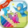 Bird coloring book free for kids