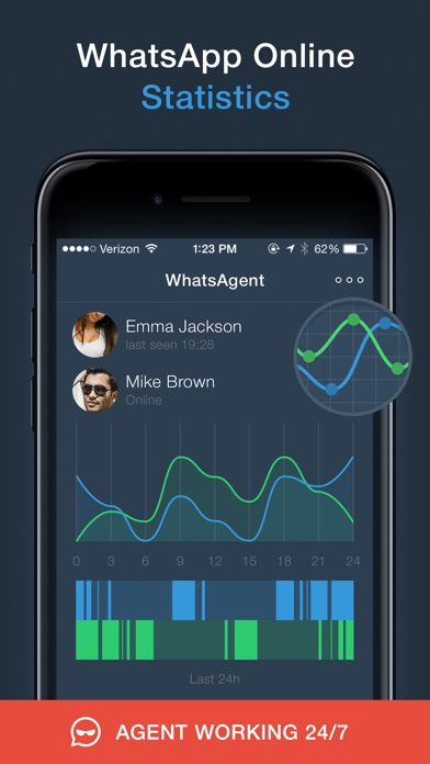 WhatsAgent Tracker - Your Online Activity Status iOS
