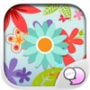 Flowers Blossom Stickers Themes by ChatStick