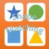 Geometric shapes matching game preschoolers math