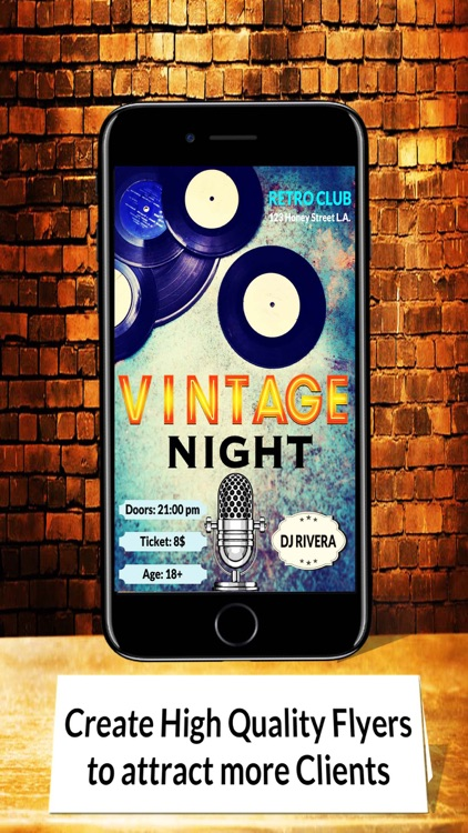 flyer vintage design flyer maker flyer creator by good life app