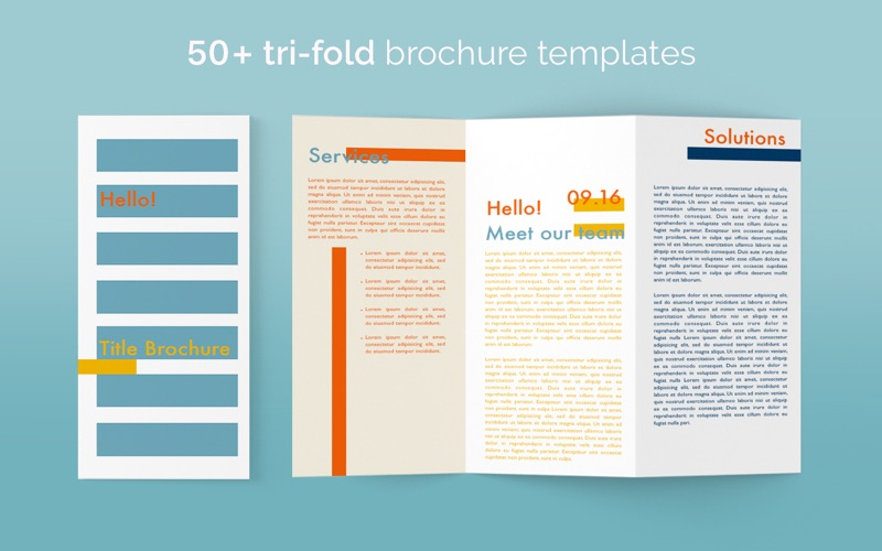Brochure templates 100 brochures for pages brochure for Free brochure templates for mac
