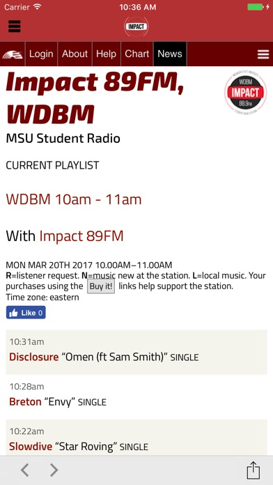 Impact 89FM: MSU Student Radio Screenshot