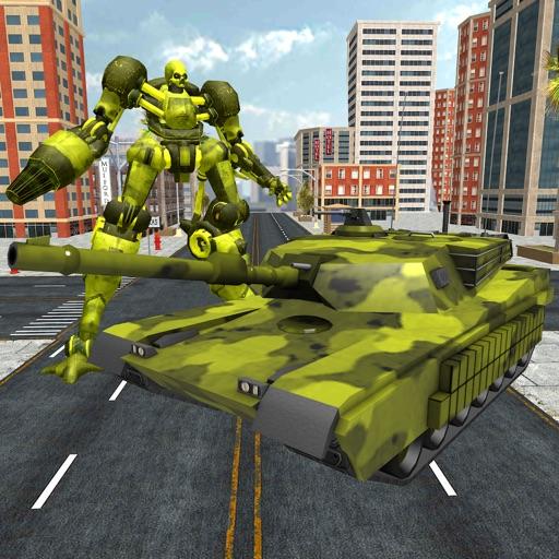 US Army Tank Transform Robot : Territory Wars iOS App