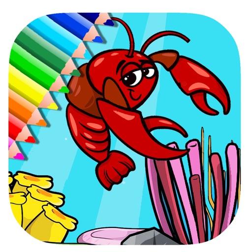 Free Coloring Book Game Sea Lobster Version iOS App
